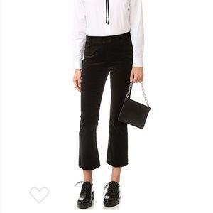 Frame Atlelier Black Velvet Straight Leg Pants